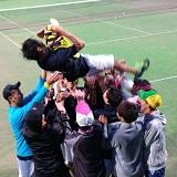 男子ソフトテニス部が九州学生リーグ2部に昇格しました!